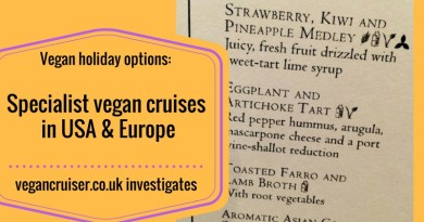 specialist vegan cruises