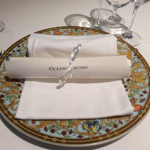 Oceania Cruises Nautica Versace plates