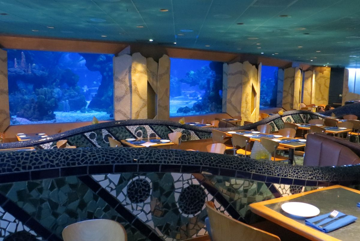 underwater restaurant disney world. Coral Reef Interior Via Touring Plans Underwater Restaurant Disney World I