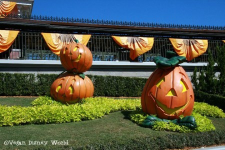 Decorations outside Magic Kingdom