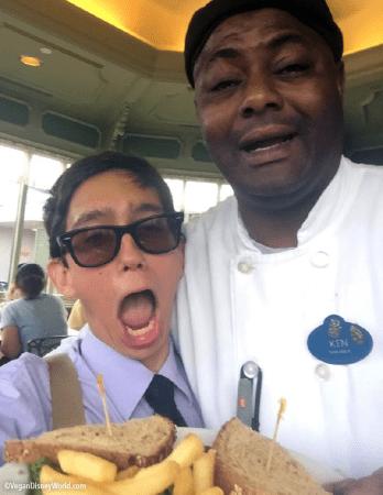 Logan with Chef Ken
