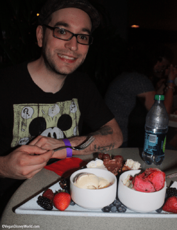 Paul with his dessert plate
