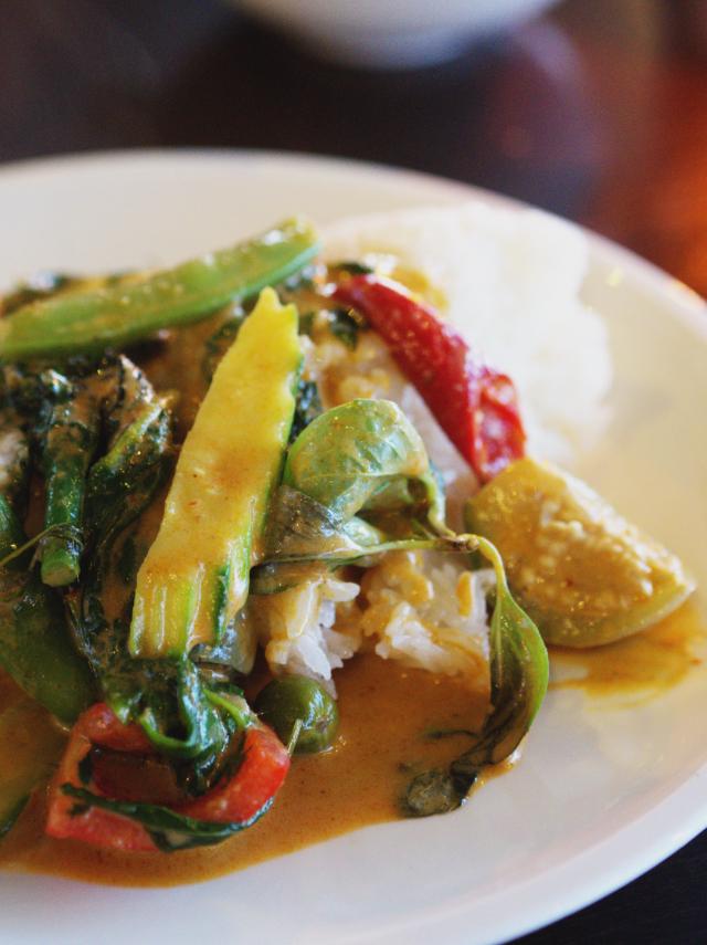 Thai green curry at Chaophraya Edinburgh