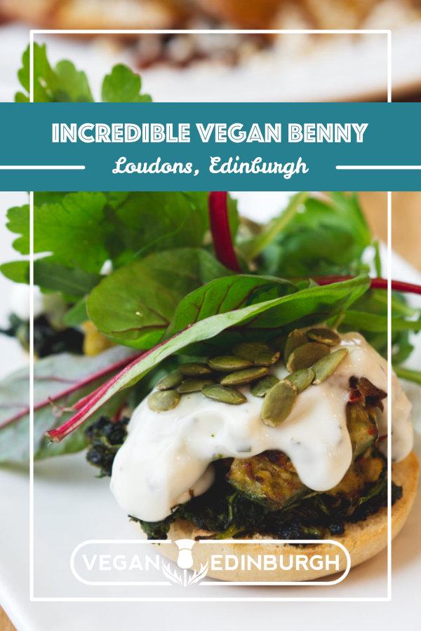 Vegan food at Loudons, Edinburgh