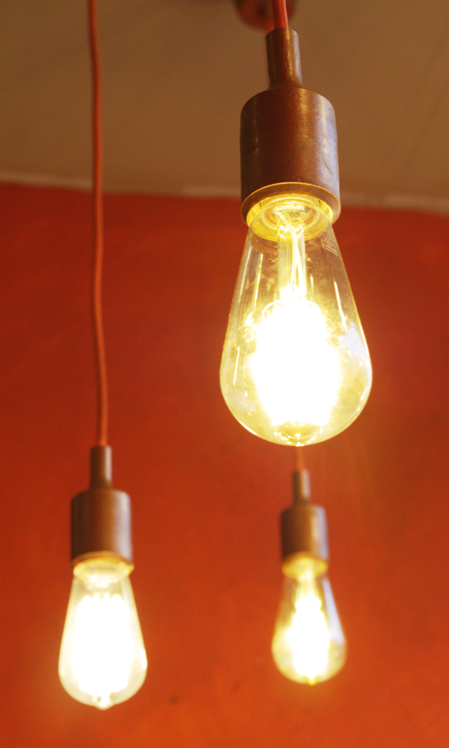 The Pakora Bar lightbulbs