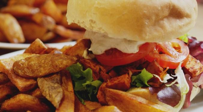 Vegan pulled jackfruit burger at Holy Cow Edinburgh