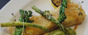 Herb polenta at Bread Street Brasserie