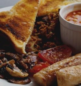 Full vegan breakfast at bbl Edinburgh