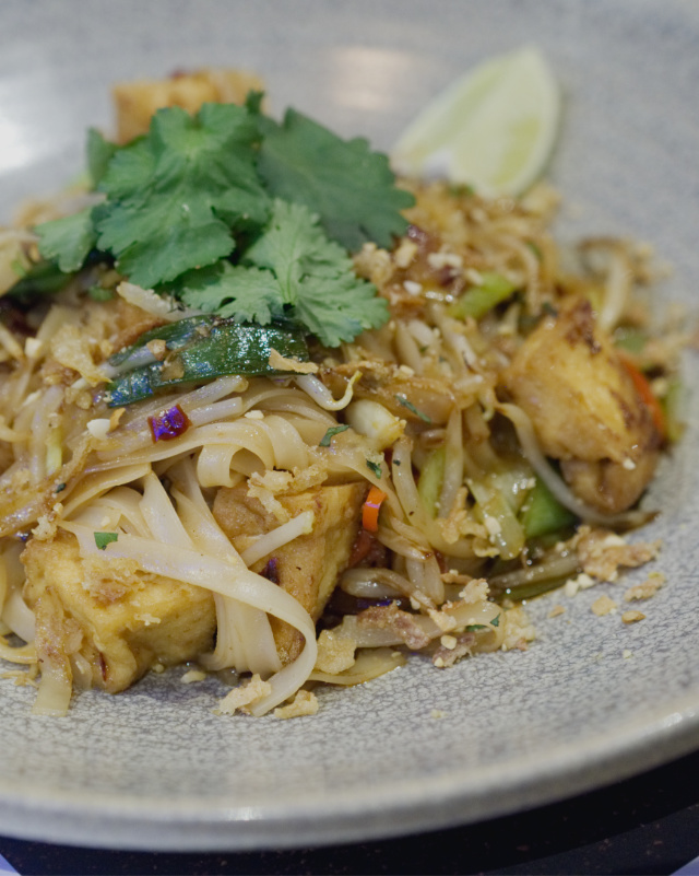 Vegan pad thai at Wagamama, Edinburgh