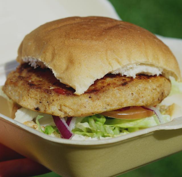 Vegan burger from BBL, Edinburgh