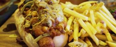 Vegan Chilli Dog at Brass Monkey Leith