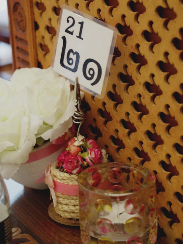 Table number at Phuket Pavilion Edinburgh