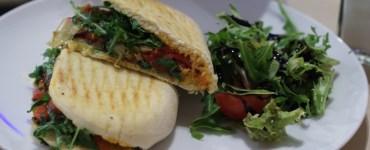 Vegan panini at Tani Modi, Edinburgh