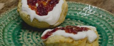 Vegan scone at Herbivore Kitchen Edinburgh