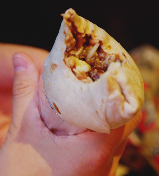 Vegan haggis burrito, Illegal Jacks, Edinburgh