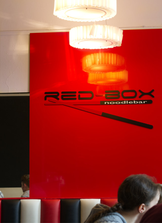Inside Red Box Noodle, Edinburgh