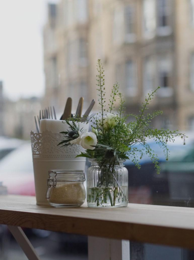 Plant at the window of Brochan Edinburgh