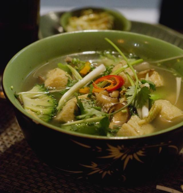 Vegetarian Pho Noodle Soup at Vietnam House, Edinburgh