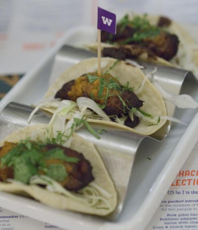 Plantain tacos at Wahaca Edinburgh