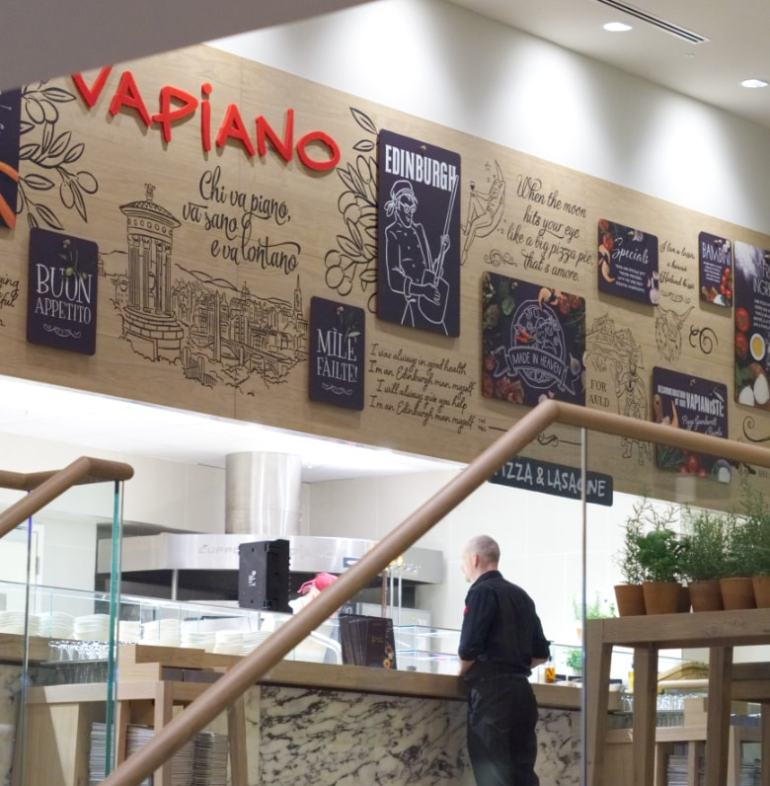Inside Vapiano Edinburgh