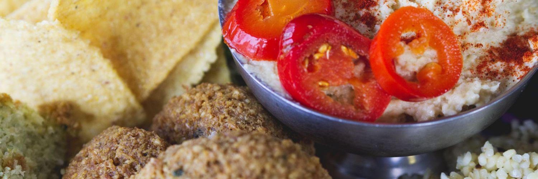 Vegan falafel meal at the Forest café Edinburgh