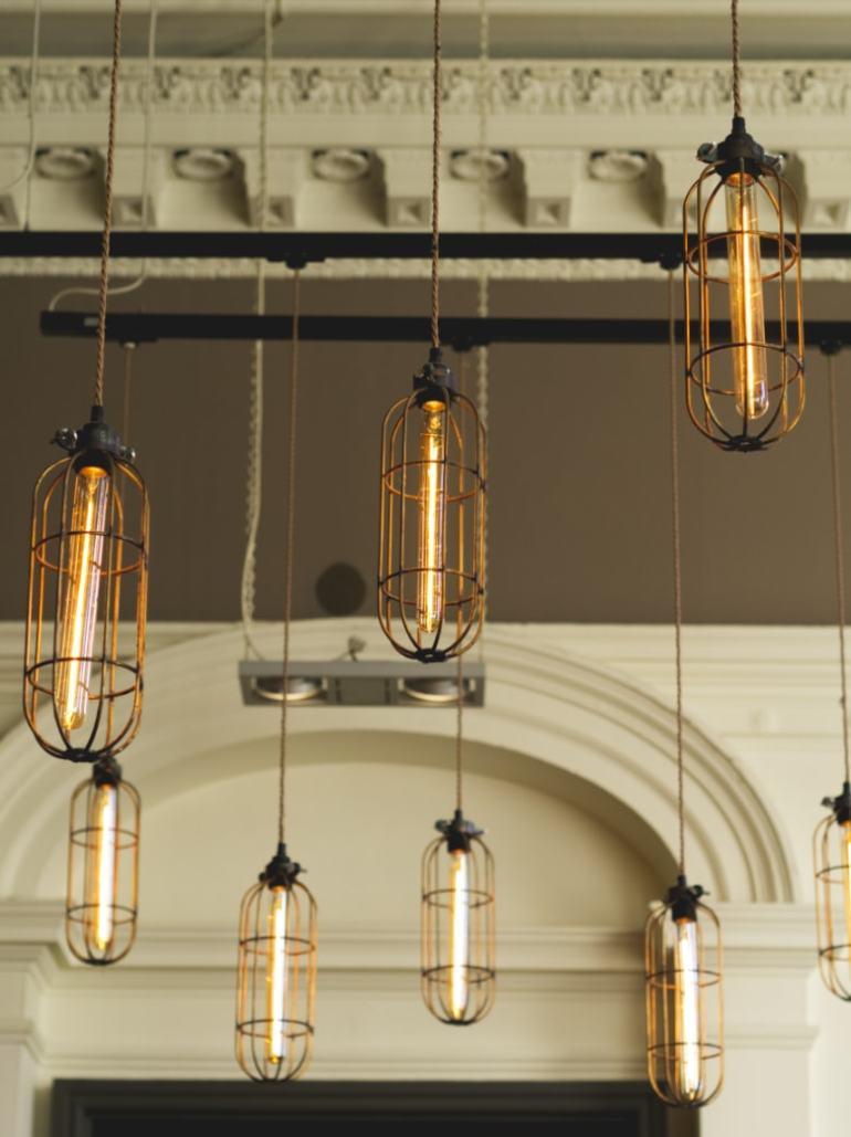 Interior lights at All Bar One Edinburgh