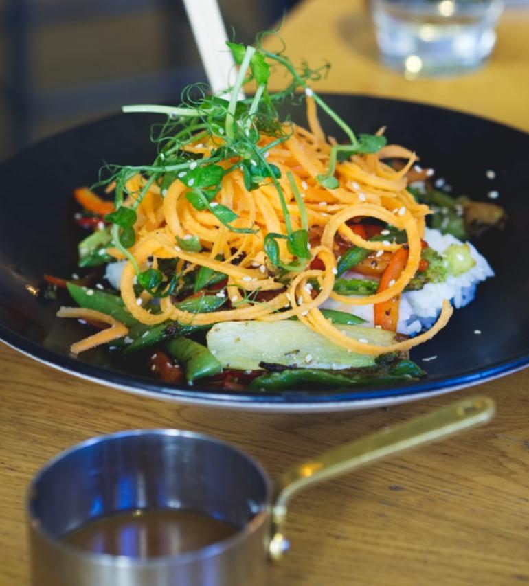Vegan miso bowl at All Bar One Edinburgh