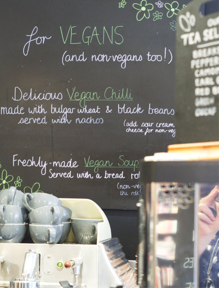 Vegan Menu at Café W Edinburgh