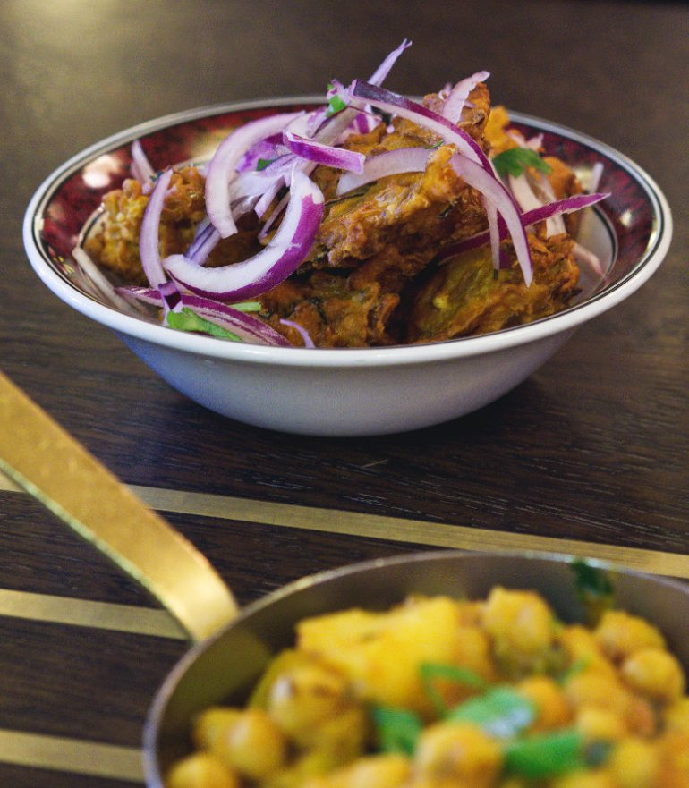 Vegan pakora at Mother India, Edinburgh