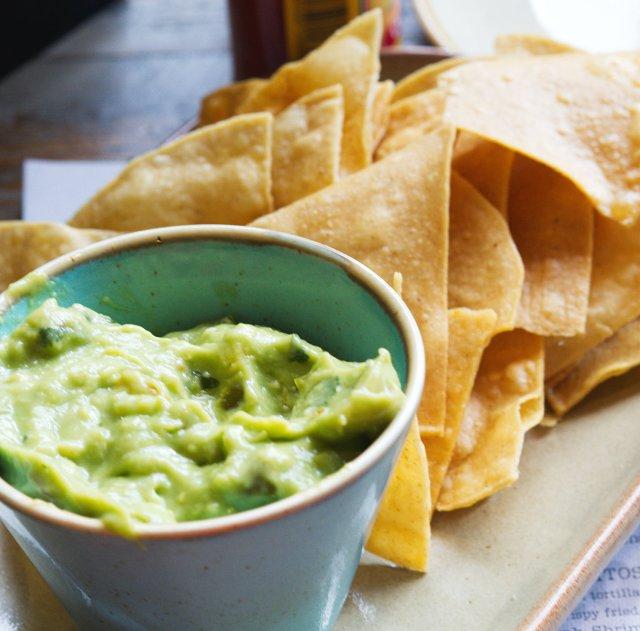 Vegan guacamole and chips at Topolabamba Edinburgh