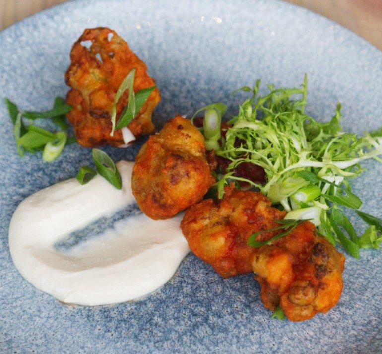 Vegan cauliflower wings at Vesta, Edinburgh