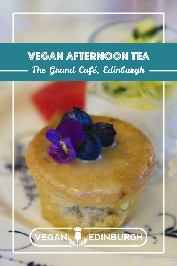 Vegan afternoon tea at The Grand Café, Edinburgh