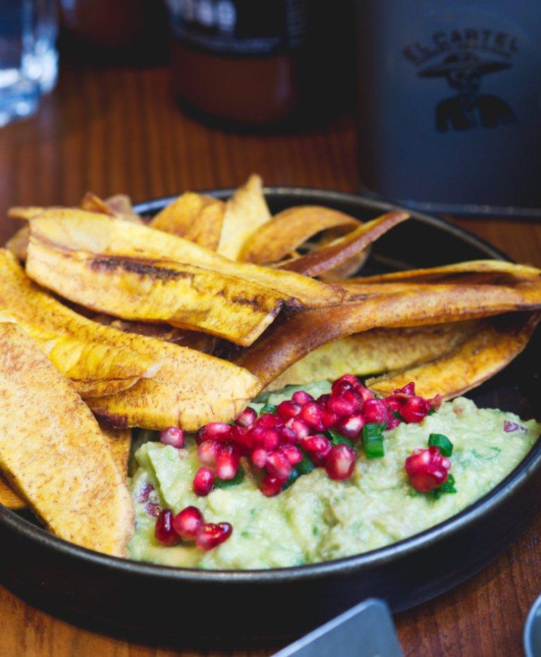 Vegan Guacamole and Plantain at El Cartel, Edinburgh