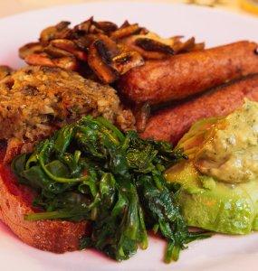 Vegan food at Rose Theatre Café, Edinburgh