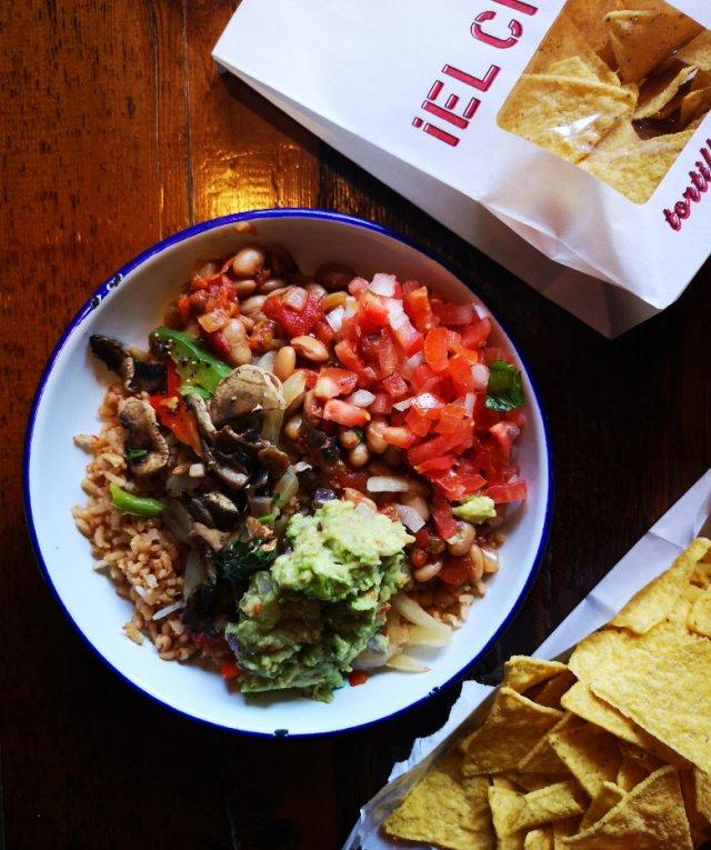 Vegan Naked Burrito at Barburrito Edinburgh