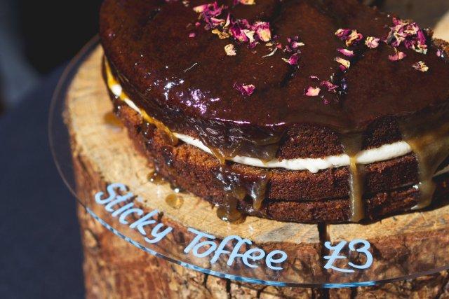 Vegan sticky toffee cake by Herbivore Kitchen