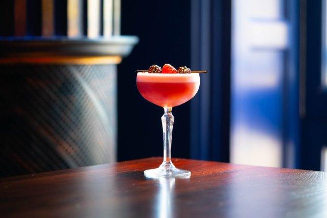 Vegan cocktail at Le Monde, Edinburgh