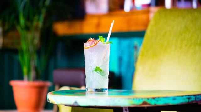 Vegan cocktail at Smoke & Mirrors, Edinburgh