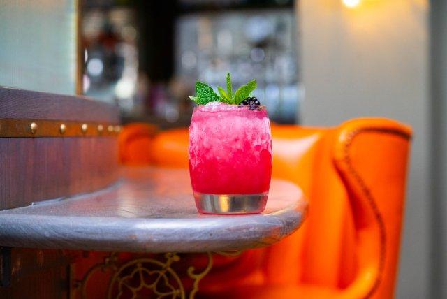 Vegan cocktail at The Huxley, Edinburgh