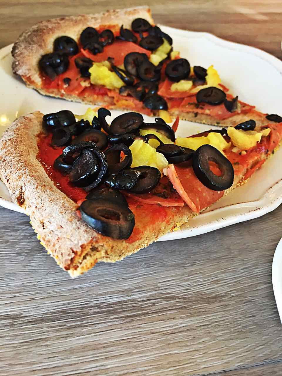Vegan wfpb Pizza Slices