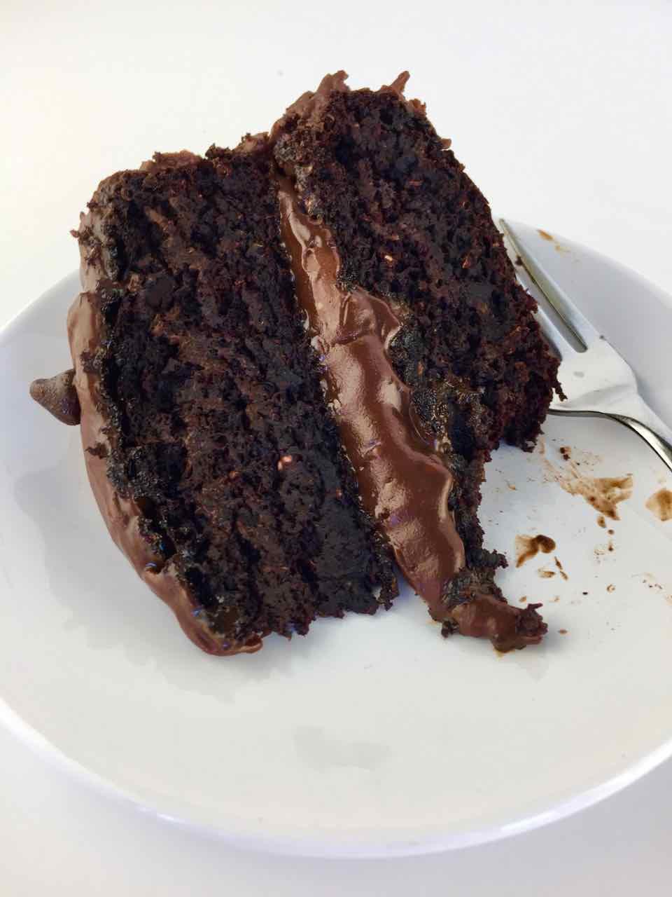 Vegan Whole Wheat Aquafaba Oil Free Chocolate Birthday Cake