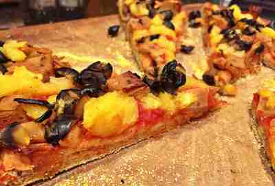 Vegan Ham and Pineapple Pizza