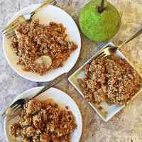 Ginger Pear Fruit Crisp - Whole-Foods Plant-Based