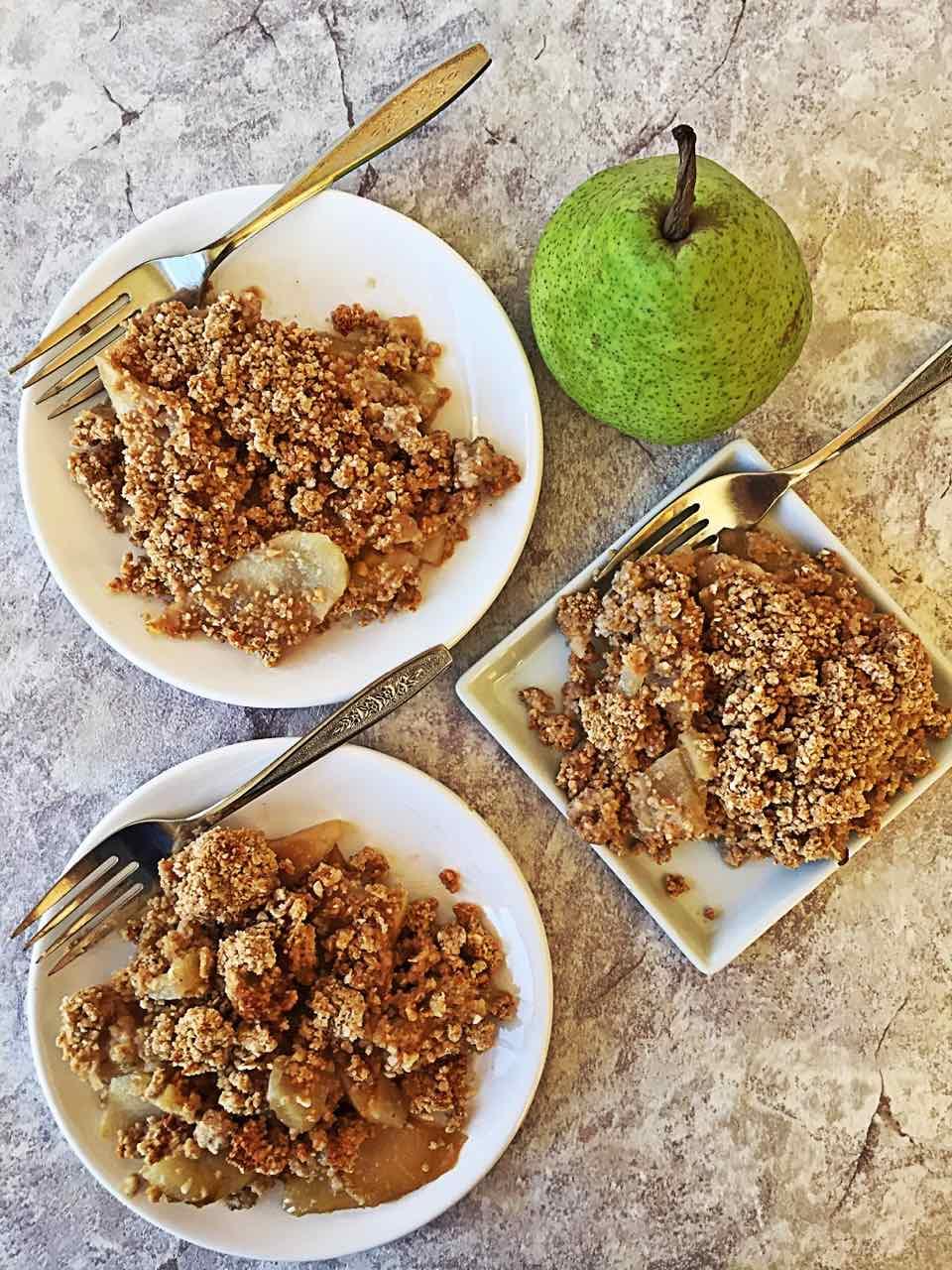 Healthy Vegan Pear Crumble