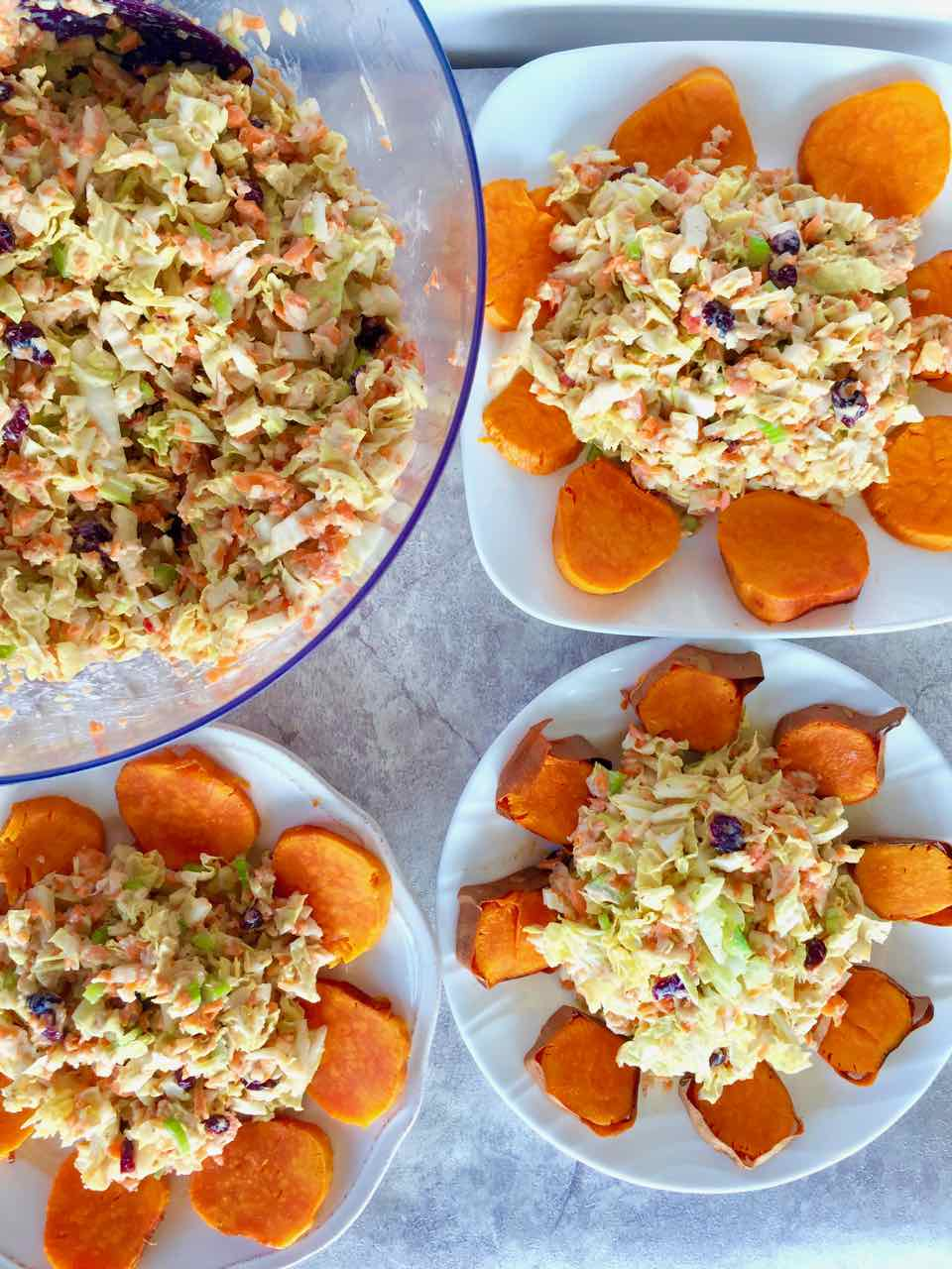 healthy vegan apple cabbage salad