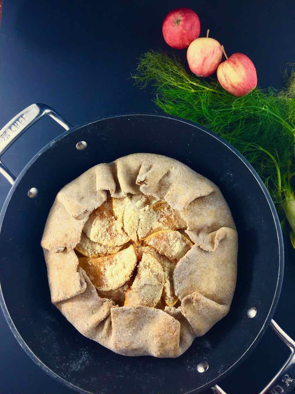 vegan butternut squash galette fennel apple whole-wheat crust