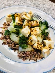 Wild Rice, Bok Choy, Tofu in Teriyaki Sauce