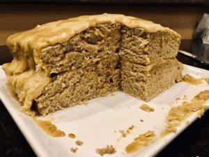 vegan vanilla cake whole wheat with protein powder