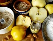 Apfel-Quitten-Crumble (Zutaten)