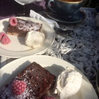 Chocolate Brownies at The Old Auction Room Café